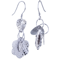 Sterling Silver Jewelry - heart flower pattern earrings 925  sterling silver Image.