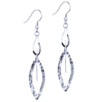 Sterling Silver Jewelry - pattern circle dangle earrings 925  sterling silver Image.