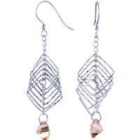 Sterling Silver Jewelry - fashion april birthstone crystal earrings 925  sterling silver Image.