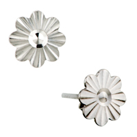 Earrings - embroidery flower pattern classic 925  sterling silver stud earrings Image.
