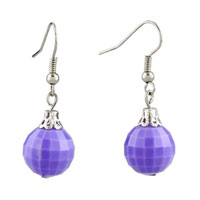 Earrings - purple ball edges corners earrings for women Image.