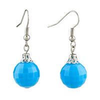 Earrings - blue ball edges corners earrings for women Image.