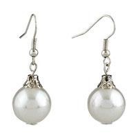 Earrings - white ball resin earrings for women Image.