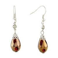 Earrings - drop red resin earrings for women Image.