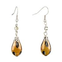 Earrings - drop white resin earrings for women Image.