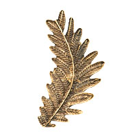 New Arrivals - gold tone gothic temptation leaf cuff earring left ear Image.