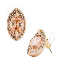 Earrings - topaz crystal berry shaped stud november birthstone elegant earrings Image.