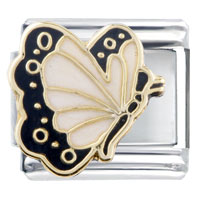 Italian Charms - april diamond color butterfly birthstone insect animal italian charm Image.