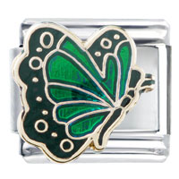 Italian Charms - may emerald color butterfly birthstone insect animal italian charm Image.