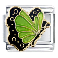 Italian Charms - august peridot color butterfly birthstone insect animal italian charm Image.