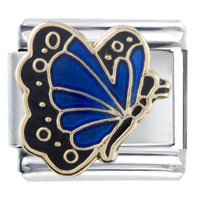 Italian Charms - september sapphire color butterfly birthstone insect animal italian charm Image.