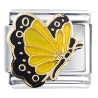 Italian Charms - november topaz color butterfly birthstone insect animal italian charm Image.