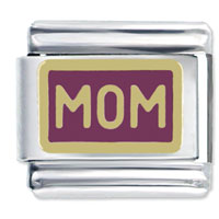 Italian Charms - golden italian charm bracelet mom gift Image.