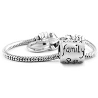 Bracelets - love family life beads heart lobster clasp bracelet fit all brands charms beads Image.