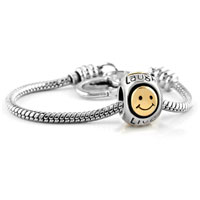 Bracelets - smile heart live love laugh golden butterfly european lover beads heart lobster clasp bracelet fit all brands charms beads Image.
