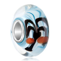 Charms Beads - aquamarine coconut christmas tree murano glass charm beads fitscharm bracelet Image.