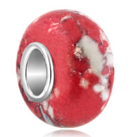 Charms Beads - white red turquoise fits murano glass beads charms bracelets fit all brands Image.
