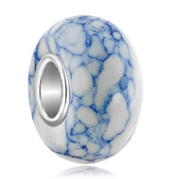 Charms Beads - pugster?  pale blue white turquoise for murano glass beads charms bracelets fit all brands Image.