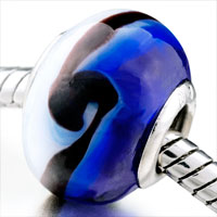 Charms Beads - deep blue fringe fit all brands murano glass beads charms bracelets Image.