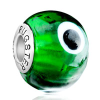 Charms Beads - green evil eye fits murano glass beads charms bracelets fit all brands Image.