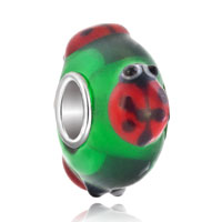 Charms Beads - cute ladybug animal peridot green fits murano glass beads charms bracelets fit all brands Image.