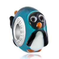 Charms Beads - cute penguin gift fits murano glass beads charms bracelets fit all brands Image.