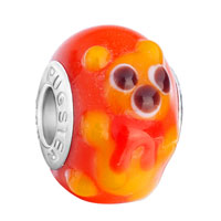 Charms Beads - cute yellow teddy bear heart forever love animal orange fit all brands murano glass beads charms bracelets Image.