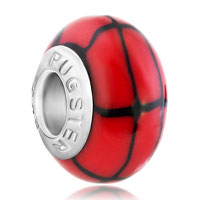 Charms Beads - red scarlet black fusion murano glass fit all brands beads charms bracelets Image.
