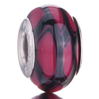 Charms Beads - dark red black fusion irregular fit all brands murano glass beads charms bracelets Image.