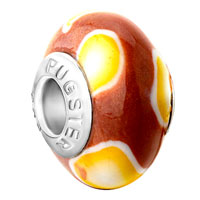 Charms Beads - white bright yellow shadow brown polymer clay fit all brands murano glass beads charms bracelets Image.