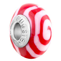 Charms Beads - red whirlpool fit &  murano glass beads charms bracelets all brands Image.