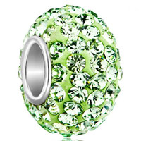 Sterling Silver Jewelry - birthstone charms jewelry 925 sterling silver peridot green bead fit bead Image.