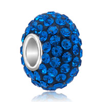 Sterling Silver Jewelry - birthstone charms jewelry 925 sterling silver sapphire blue crystal bead Image.