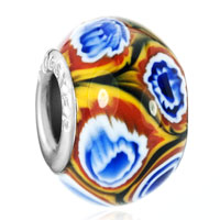 Charms Beads - gorgeous flower fits murano glass beads charms bracelets fit all brands Image.
