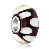 New Arrivals - white petals classic amethyst murano glass fit all brands beads charms bracelets Image.