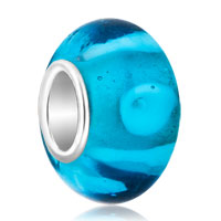 Charms Beads - ice sugar cookies aquamarine ocean blue fit all brands murano glass beads charms bracelets Image.