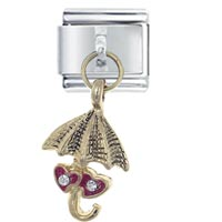 Italian Charms - dangle heart umbrella italian charms dangle italian charm Image.