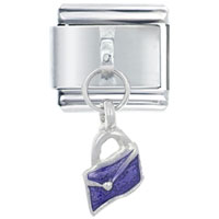 Italian Charms - purple wallet italian charms dangle italian charm Image.