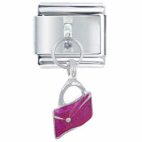 Italian Charms - pink wallet italian charm dangle italian charm Image.