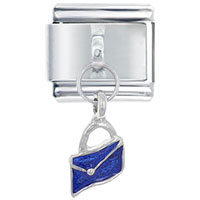 Italian Charms - blue wallet by price italian charm dangle italian charm Image.