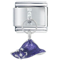 Italian Charms - hat purple italian charms dangle italian charm Image.
