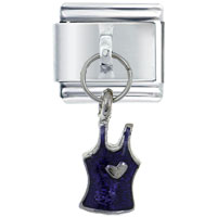Italian Charms - jewelry heart tank top purple shopping italian dangle charm bracelet italian charm Image.