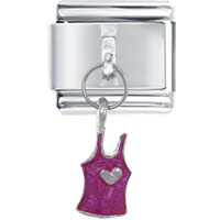 Italian Charms - jewelry heart tank top pink shopping italian dangle charms bracelet italian charm Image.