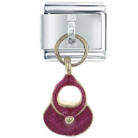 Italian Charms - purse red dangle italian charms Image.