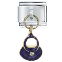 Italian Charms - purse purple italian charms dangle italian charm Image.