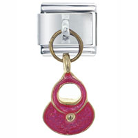 Italian Charms - pink purse italian charm dangle italian charm Image.