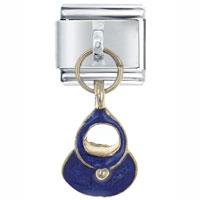Italian Charms - purse blue italian charms dangle italian charm Image.