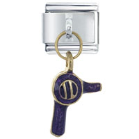 Italian Charms - hair dryer purple february italian charms dangle italian charm Image.