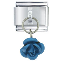 Italian Charms - rose blue valentine fashion jewelry italian charm dangle italian charm Image.