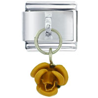 Italian Charms - rose orange italian charms dangle italian charm Image.